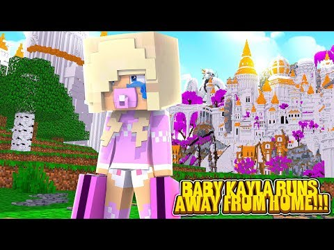 Minecraft PRINCESS BABY KAYLA RUNS AWAY FROM HOME!!! w/ LITTLE LEAH & LITTLE DONNY
