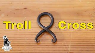 forged iron Troll cross