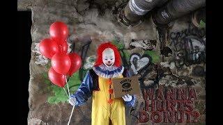 ПРАНК: сумашедший клоун (страшный пранк)