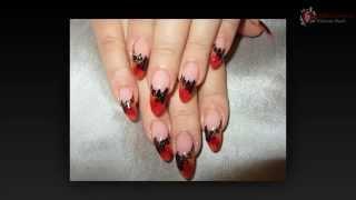 Рисунки ногтей акриловыми красками видео.
