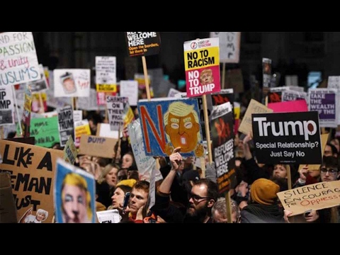 US President Donald Trump's state visit to UK causes chaos