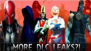 Sub-Zero, Martian Manhunter, Red Hood and Power Girl in Injustice?!?!? MOAR DLC LEAKS!
