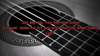 Maroon 5 What Lovers Do Ft Sza Acoustic Guitar Karaoke On Screen