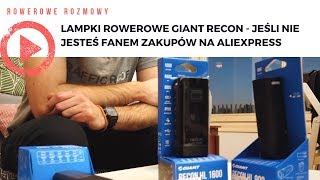 Lampki rowerowe Giant Recon - jeśli nie jesteś fanem zakupów na Aliexpress