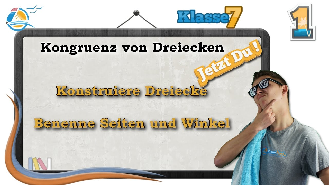 Kongruenz von Dreiecken || Klasse 7 ☆ Übung 1 - YouTube
