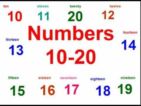 Inglés para los niños. Números. - YouTube