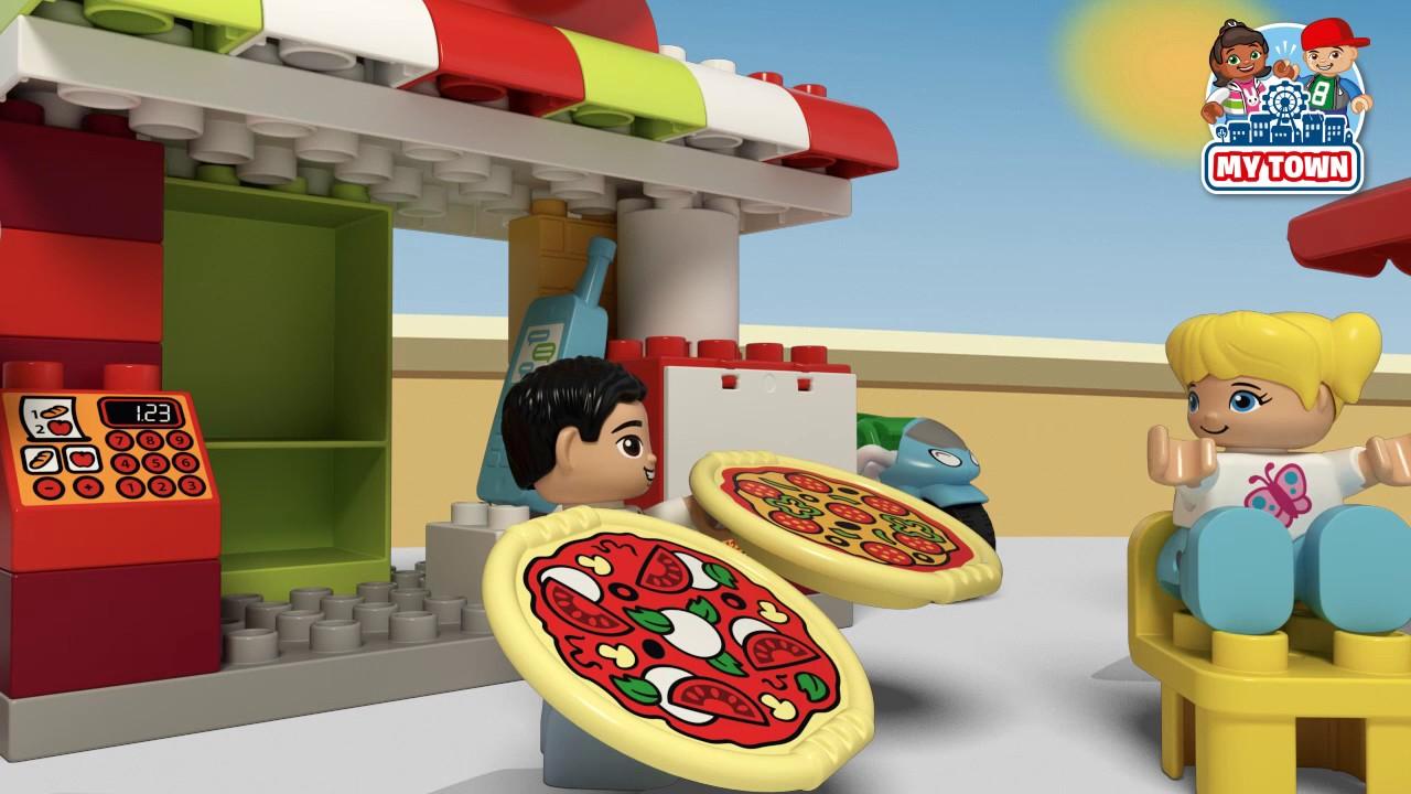 My Town Pizzeria Lego Duplo 10834 Product Animation Youtube