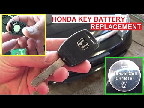How to Replace the Key FOB Battery Change Honda Civic Accord Pilot CRV Odyssey