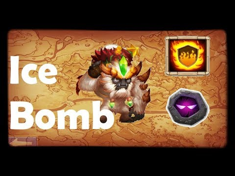 Sasquatch FLAME GUARD + UNHOLY PACT | Ice Bomb!!! | Sasquatch Build 2019 | Castle Clash Gameplay