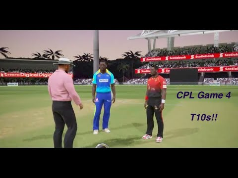Caribbean Premier League : T10s!! Game 3: Trinibago Knight Riders vs Tridents (Ashes Cricket 2017 )