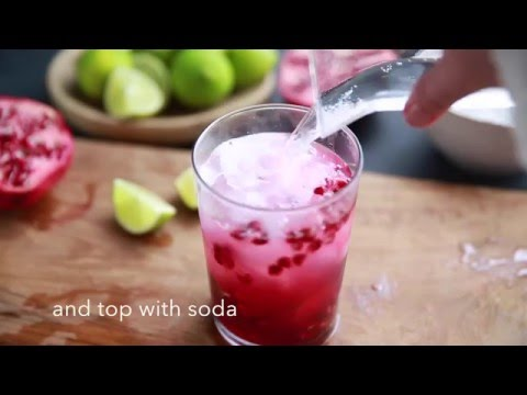 How to make a pomegranate mojito