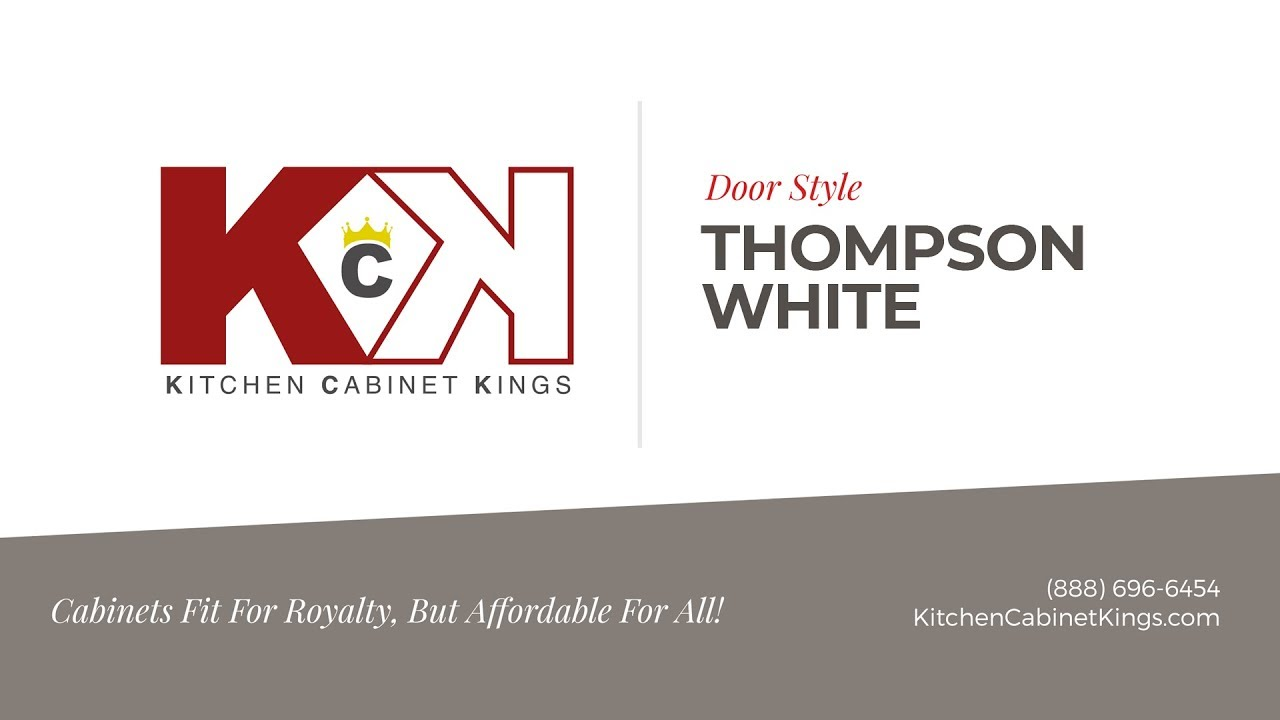 Thompson White Kitchen Cabinets From Kitchen Cabinet Kings Youtube