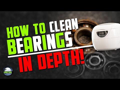 How to clean skate bearings IN DEPTH   The easiest way