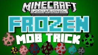 ✔️Minecraft PE - FROZEN MOB TRICK // How to make still mobs glitch/trick [MCPE]