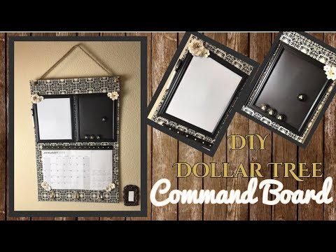 DIY DOLLAR TREE COMMAND BOARD | CALENDAR | DRY ERASE BOARD