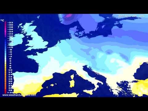 Temperature forecast Europe 2017-02-05
