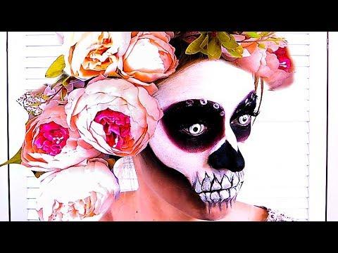 МАКИЯЖ НА ХЭЛЛОУИН Цветные линзы SuperGlazki Образ от MissBeautyMama Макияж череп