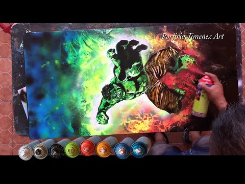 The Incredible Hulk Spray Paint Art