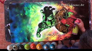 The Incredible Hulk Spray Paint Art