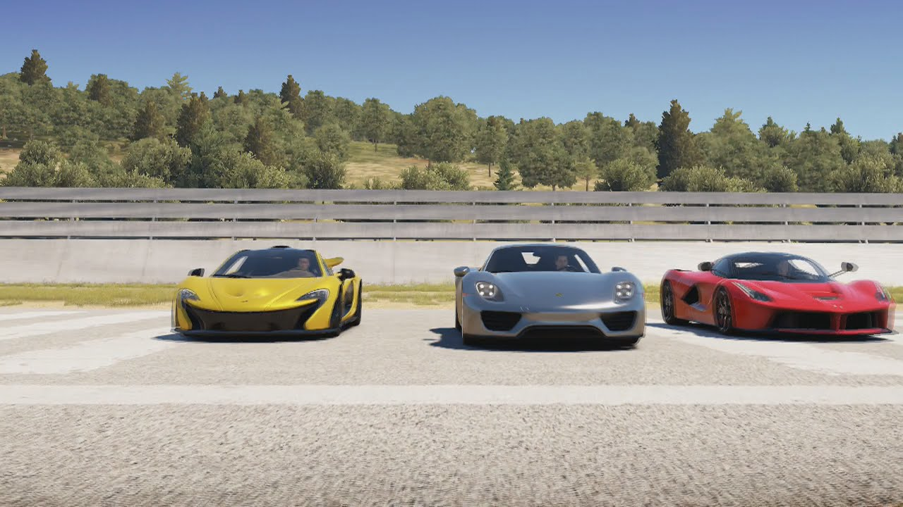 porsche 918 spyder vs ferrari la ferrari vs mclaren p1 drag race youtube. Black Bedroom Furniture Sets. Home Design Ideas