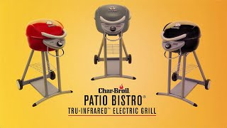 char broil patio bistro tru infrared electric grills char broil