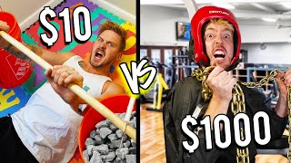 $10 VS $1,000 WORKOUT ROOMS! *Budget Challenge*