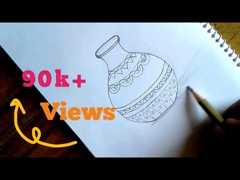 How to art pitcher/ kolosh/ pot/ nokshi kolosh for bigener