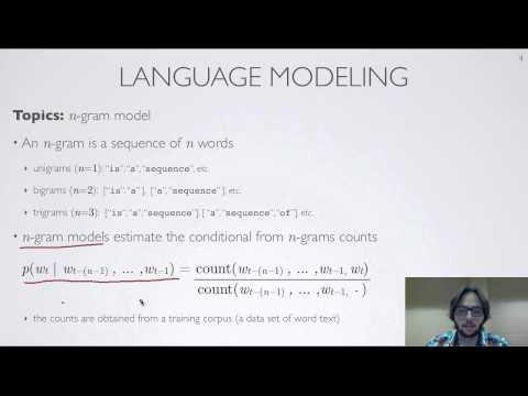 Neural networks [10.5] : Natural language processing - language modeling