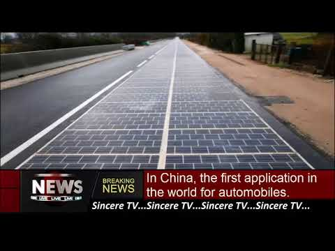 In China, the first application in the world for automobiles.