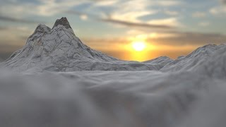 How to create a mountain range in Blender 2.74