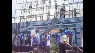 2 cara membuat panggung Persiapan Panggung Pondok Modern Darussalam Gontor
