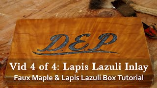 Faux Maple Wood Grain And Lapis Lazuli Inlay Gift Box Tutorial 4 Of 4