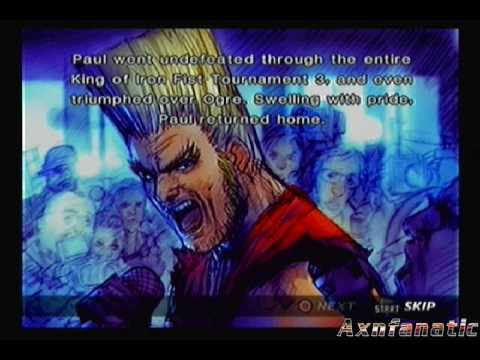 Tekken 4 Story Mode: Paul Phoenix [Part 1 of 2]