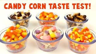 Brach's Candy Corn Taste Test- I Try Pumpkin Spice, Smores, Peanut Butter Cup And More!