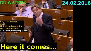 "VERHOFSTADT GETS ANGRY AT ""LITTLE ENGLANDERS"" BEFORE UK REFERENDUM"