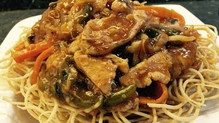 American Chopsuey Crispy Noodles Served With Boneless Chicken, Vegetables And A Tangy Sauce