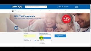 طريقة ايجاد العرض DSL المناسب لك للانترنت في المانيا عن طريق CHECK24