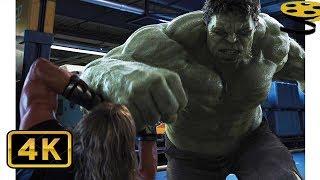 Халк против Тора. Битва на Геликарриере | Мстители | 4K ULTRA HD