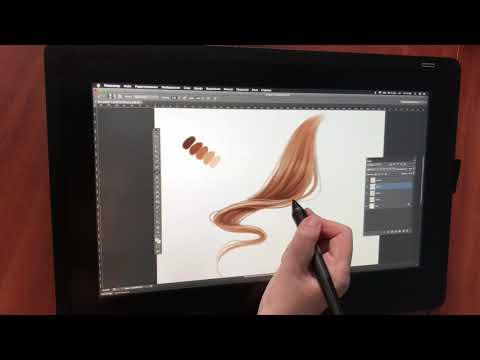 Tutorial: How to draw hair  by talented Lera Kiryakova thumbnail