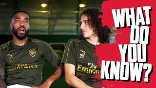 Alexandre Lacazette v Matteo Guendouzi | What Do You Know?