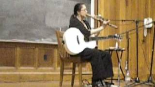 Joanne Shenandoah Plays a Flute Made from Lakebottom Wood