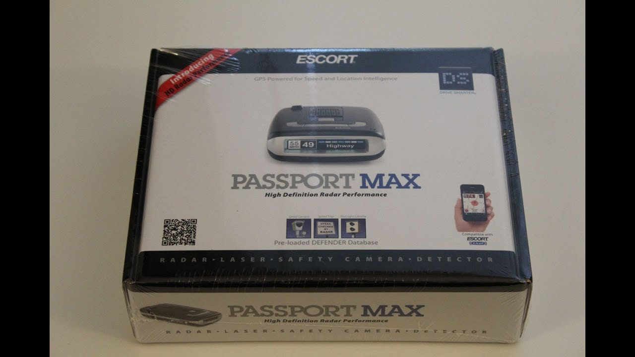 Escort Passport Max >> Escort Passport Max Radar Detector unboxing - YouTube