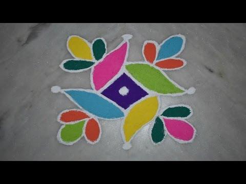 Beginners Easy Kolam/muggulu/rangoli Designs With 5X5 Dots For Diwali/pongal