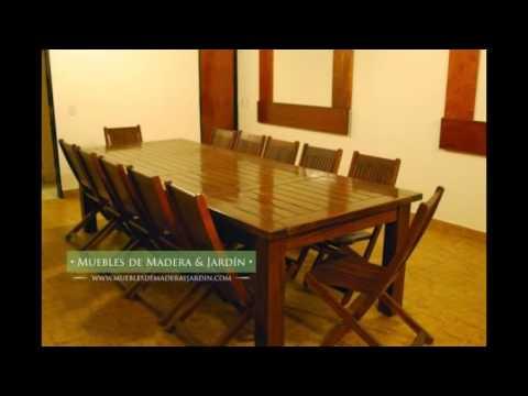 Mesas para quinchos muebles de madera y jard n com for Mesas de madera para jardin