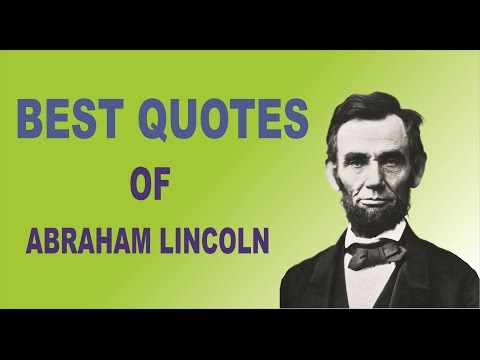 Best quotes by abraham lincoln in english