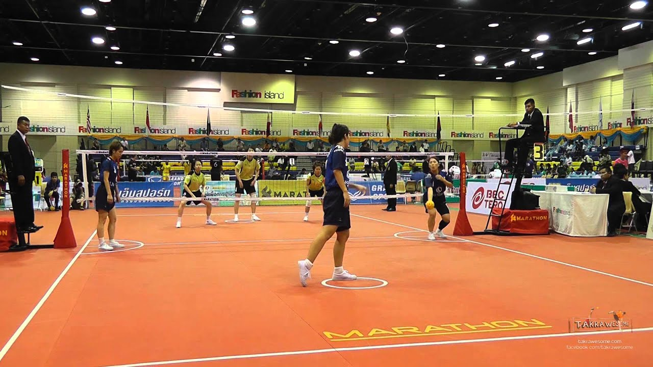 Kings Cup 2014 Sepak Takraw Japan vs. Korea - WOMENS 3rd regu Team event