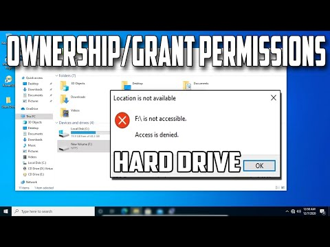 How To Take Ownership And Grant Permissions Of Entire Hard Drive In Windows 10 PC Or Laptop