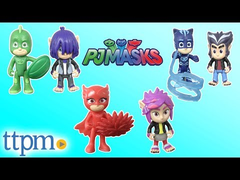 PJ Masks Owlette & Rip, Catboy & Howler, and Gekko & Kevin Figures from Just Play