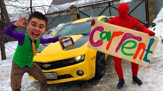 Mr. Joe Rented Car Chevrolet Camaro in Car Shop & Seller Red Man on Cadillac CTS-V for Kids