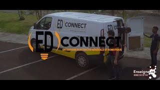 Stickage sur véhicule ED Connect // Logo + Maquette par Enseigne.re